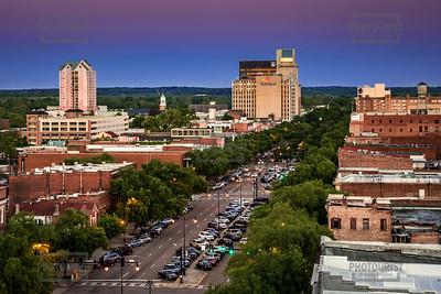 Broad Street Downtown Augusta GA Aerial View