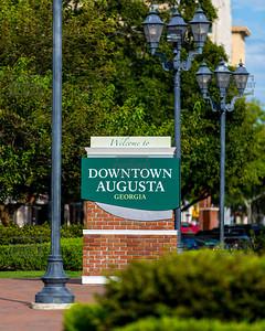 Downtown Augusta GA Sign