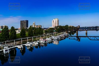 Downtown Augusta GA Skyline and the Savannah River