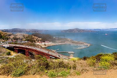 Golden Gate Bridge and Horseshoe Bay
