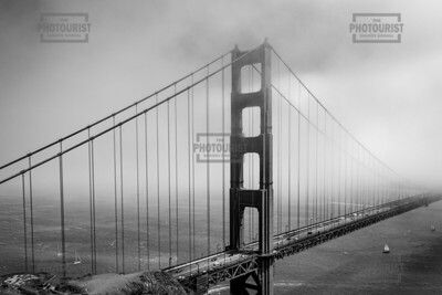 Golden Gate Bridge Disappearing into the Fog