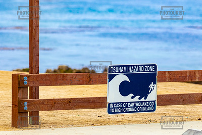 Monterey Peninsula - Tsunami Sign