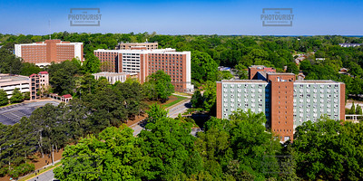 Dorms University of Georgia Panoramic Aerial View - Athens GA