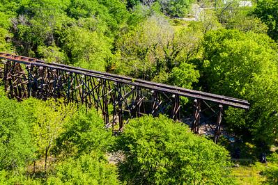 REM Murmur Railroad Trestle Aerial View - Athens GA