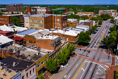 Downtown Athens GA Aerial View