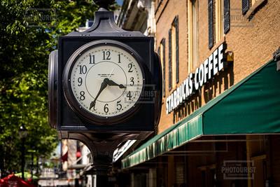 Clock in Downtown Athens GA