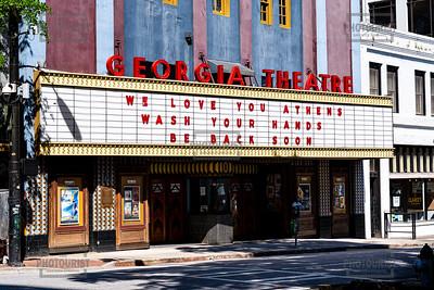 Georgia Theatre Marquee - Downtown Athens GA