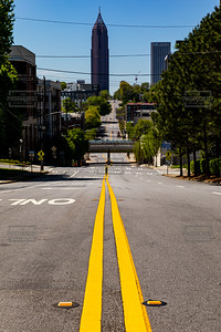 North Avenue Atlanta GA - No cars due to Coronavirus
