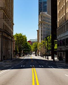 Peachtree Street Atlanta GA - No cars due to Coronavirus