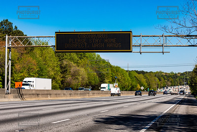 Coronavirus GADOT Sign Warning - Interstate 285
