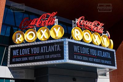 Coca Cola Roxy Atlanta GA Sign -Coronavirus