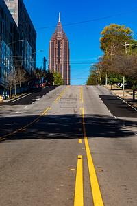 North Avenue Atlanta - No cars due to Coronavirus