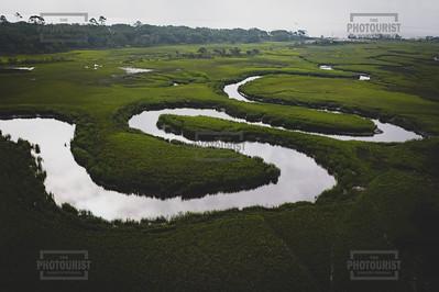 Marsh Aerial View - Jekyll Island GA