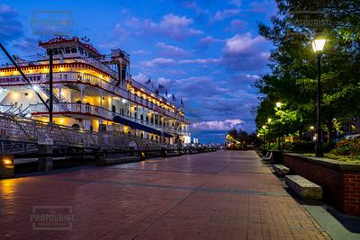 Georgia Queen Riverboat at Dusk - Savannah