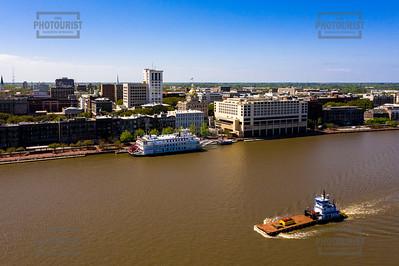 Downtown Savannah Aerial View