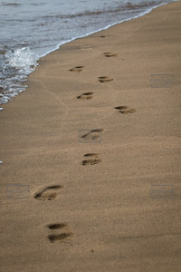 Footsteps at Beach - Maui Hawaii