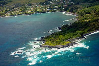 Coastline Aerial View - Maui Hawaii