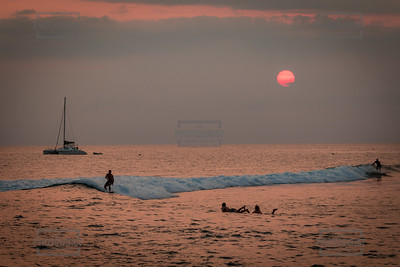 Lahaina Surfers Sunset - Maui Hawaii
