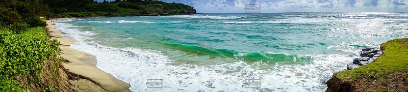 Kahili Beach Panoramic - Kauai Hawaii