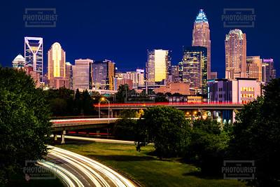 Charlotte NC Skyline at Night