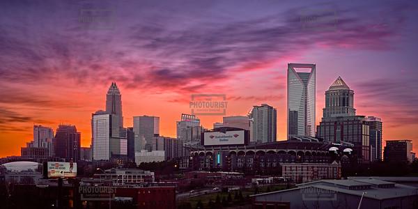 Charlotte NC Skyline - Sunset