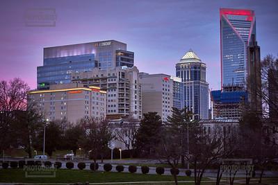 Charlotte NC Skyline at Dusk