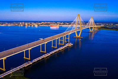 Ravenel Bridge Aerial View - Charleston SC