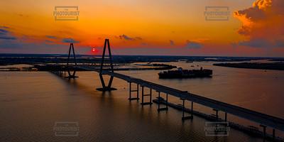 Ravenel Bridge Sunset - Charleston SC