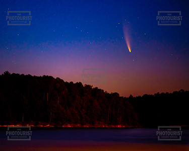 Neowise Comet over Strom Thurmond Lake 8x10