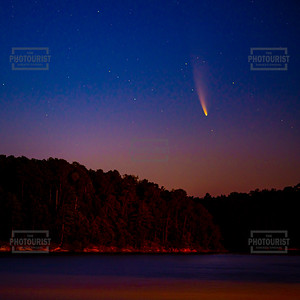Neowise Comet over Strom Thurmond Lake 1x1