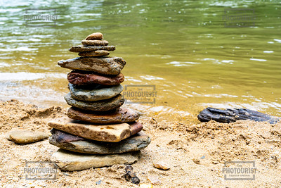 Stacked Rocks at Riley Moore Falls - Westminster SC