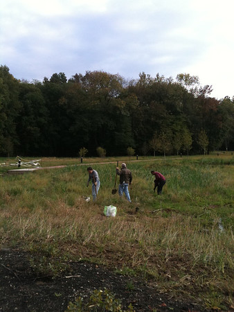2011-10-03 Volunteers plant SCEE natives & Salamandar