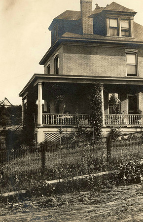 Early years of the Bonini Home in Beechview (Pittsburgh). Note dirt road.