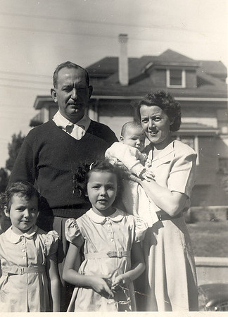 Frank Bonini Jr. and Madeleine with baby Frank, Kathleen and Mary