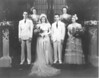Kathleen and Hugh (Bud) McDonald wedding, Madeleine Bonini, sister of Kathleen at right