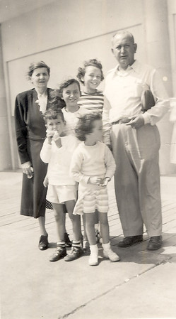 Left to Right (rear), Josie Barberi, Mary Beatrice, Frank Bonini<br /> Left to Right (front), Frank Bonini III, Kathleen, Beatrice