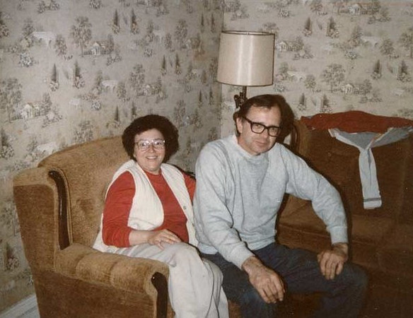 Kathleen and Alphonse Puhalla in Romney WV living room.