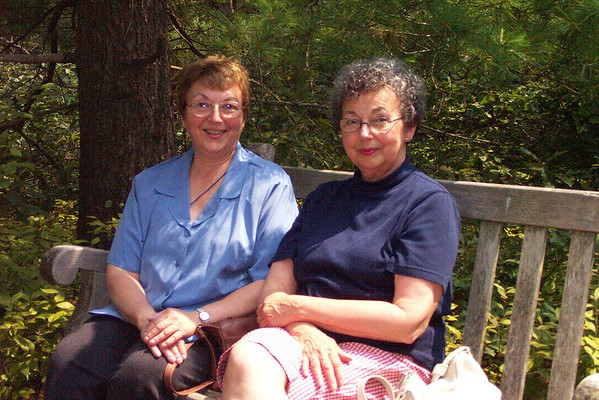 Kathleen Puhalla (left) and Mary Lacey at Tower Hill MA 2004