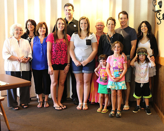 2014 Puhalla Family reunion in CA. <br /> L->R - Kathy, Roz, Nancy, Courtney, Jim, Megan, Robin, Lil, Rob, Jen, Margot, Devon, Sasha.