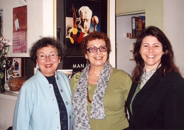 Left --> Right, Mary Lacey. Dixie Bonini, Rosalind Snyder