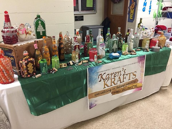 Karen Martin's booth at St. Charles IL - November 2017