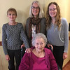 Joanna Lacey with Family Members, Thanksgiving 2018<br /> L-R Lisa Gruss, Karen Martin, Rachael Gruss
