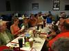 Family dinner at restaurant in Leo, Indiana