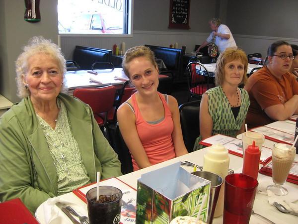 L-R Joanna Lacey, Rachael Gruss (Granddaughter), Lisa Gruss (Daughter)