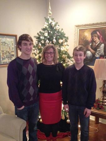 Lisa [Tallman] Helmle with children (L) Josef and Tyler