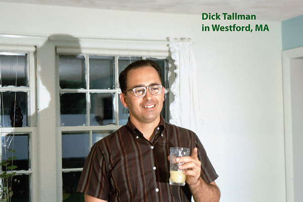 Dick Tallman visiting the Lacey home in Westford MA circa 1969