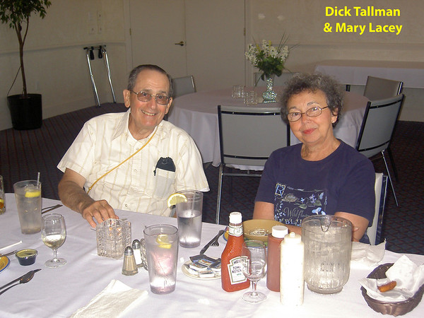 Dick and Mary enjoying conversation during Tallman 50th Anniversary celebration