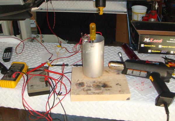 Figure 1 - Temperature Sender Test Setup