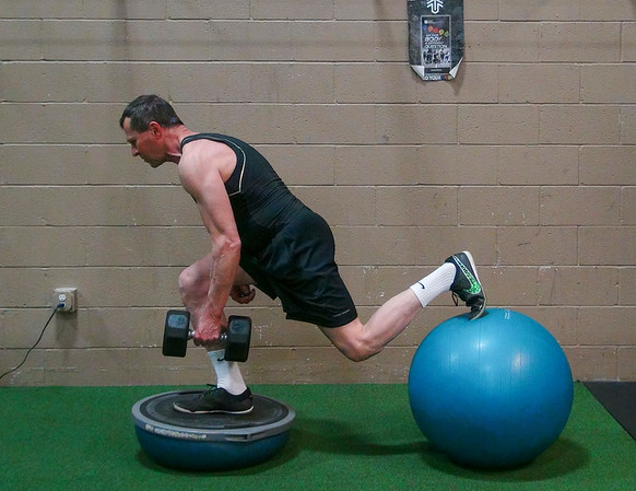Lunges with a bit of a Balance Component