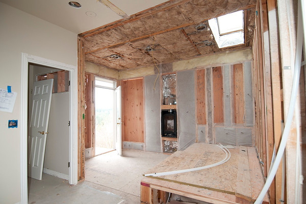 Insulation is so nice after having an open ceiling!